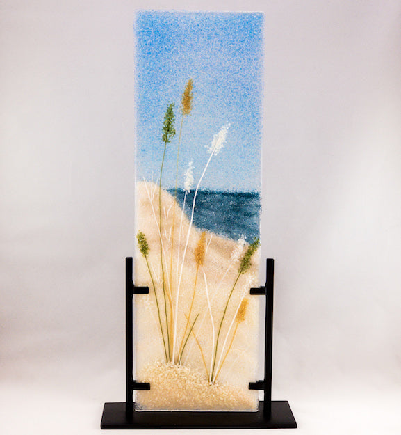 Glass Frit Painting - Cape Cod Dunes - 115S