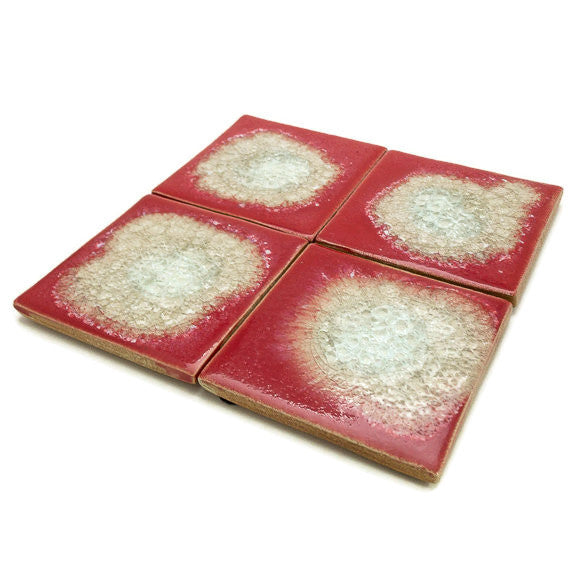 Coasters with Glass - Hot Tamale