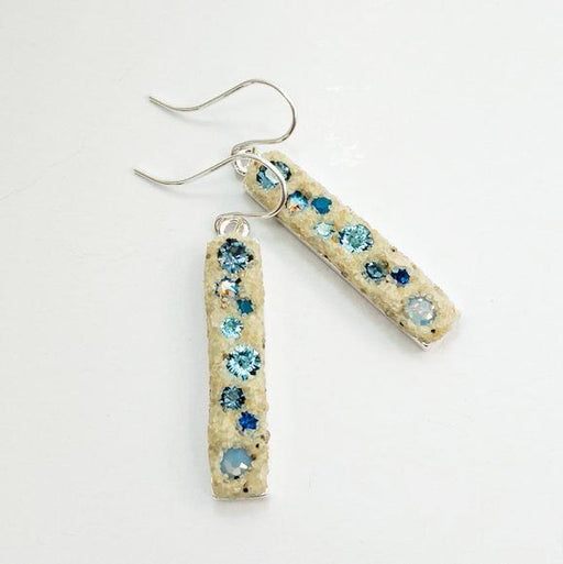 Earrings - Dangle - Multi Blues - Cape Cod