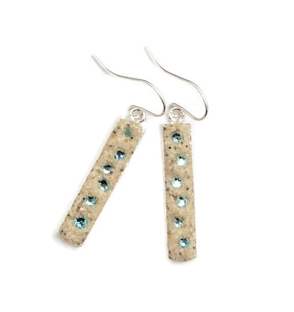 Earrings - Dangle - Light Turquoise - Cape Cod