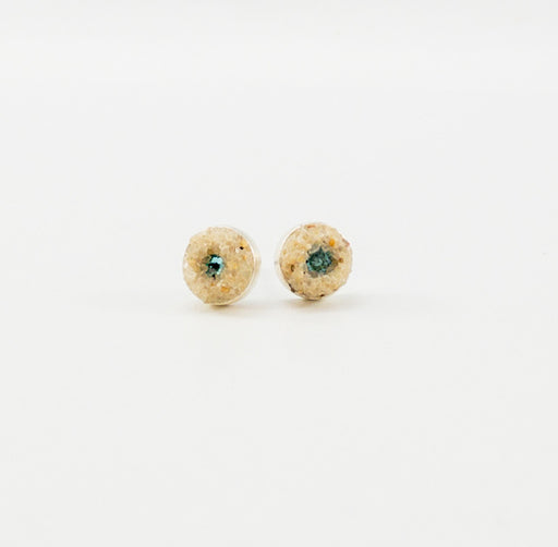 Earrings - Mini Stud - Light Turquoise - Cape Cod