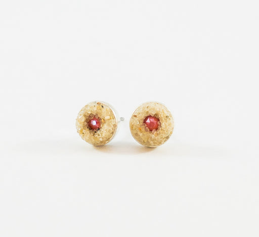 Earrings - Mini Stud - Coral - Cape Cod