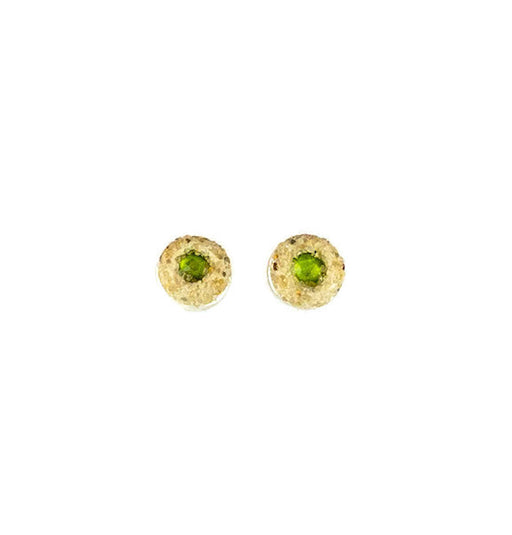 Earrings - Mini Stud - Lime Green - Cape Cod