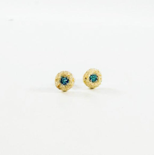 Earrings - Mini Stud - Aquamarine - Cape Cod