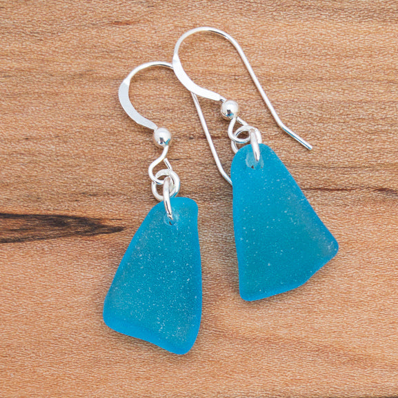 Earrings - Single Sea Glass - E00 - Caribbean