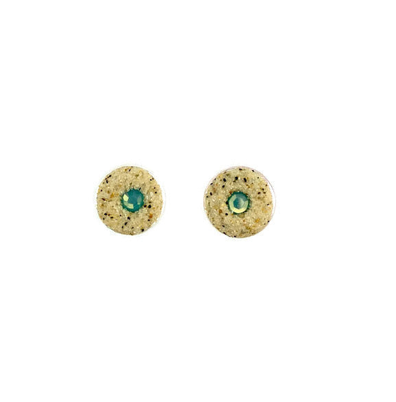 Earrings - Round Stud - Pacific Opal - Nauset