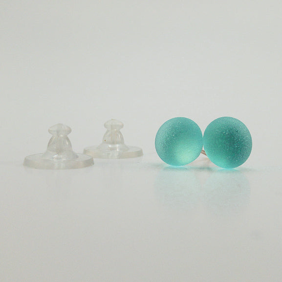 Earrings - Single Sea Glass - EDP01 - Aqua