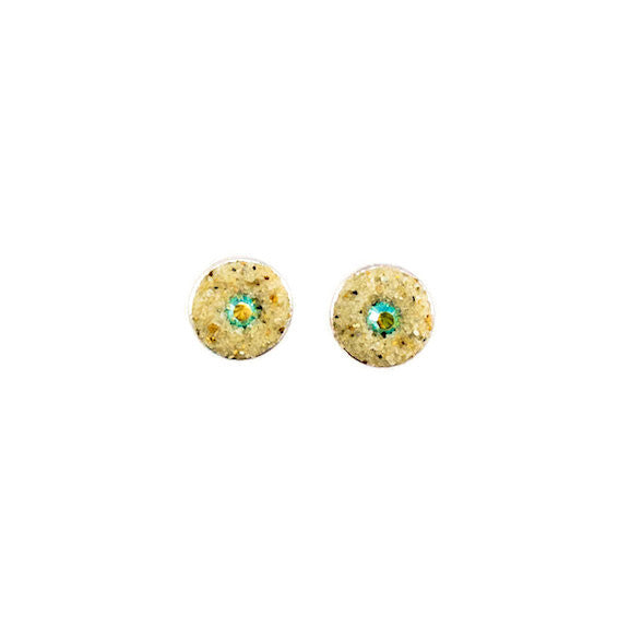 Earrings - Round Stud - Peridot AB - Cape Cod