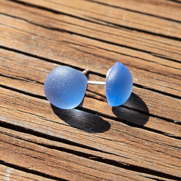 Earrings - Single Sea Glass - EDP01 - Periwinkle