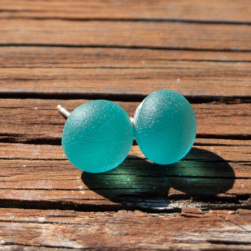 Earrings - Single Sea Glass - EDP01 - Sea Green