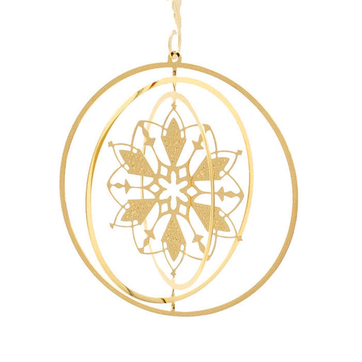 Ornament - Gold Plated Dimensional Snowflake