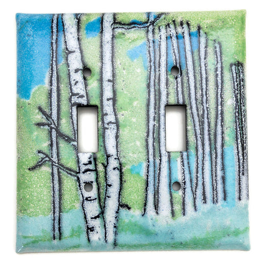 Switch Plate Cover - Double - Aspen - Blues