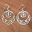 Earrings - Double Circle - E-11S