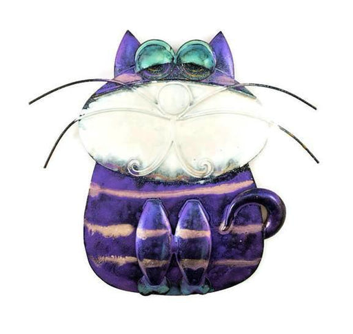 Fun Cat - Wall - Purple with Pink Stripes