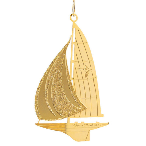 Ornament - Gold Plated Sailboat
