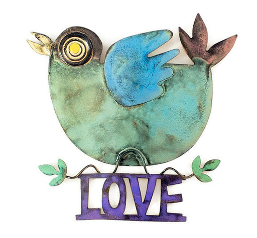Love Dove - Wall - Green - Purple Love