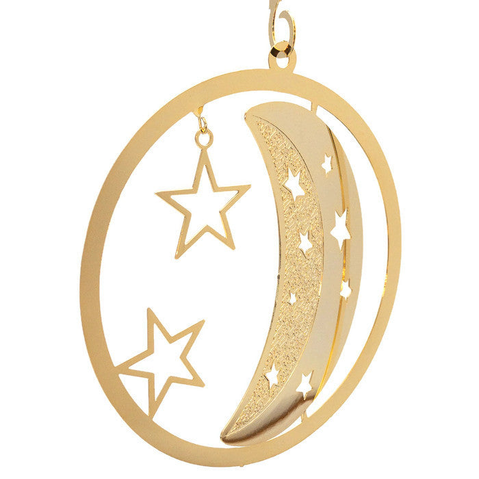 Ornament - Gold Plated Moon & Stars