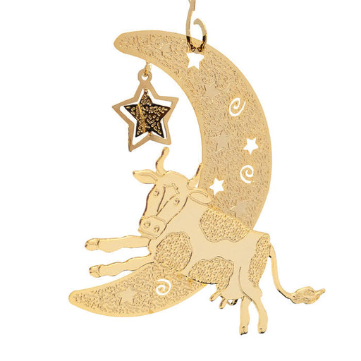 Ornament - Gold Plated Cow Over The Moon