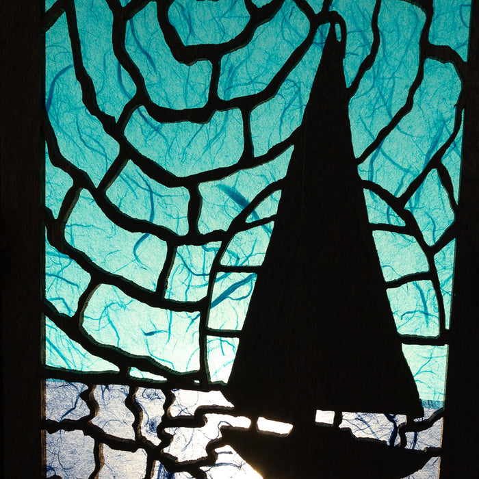 Lamp - Sailboat Silhouette - Large