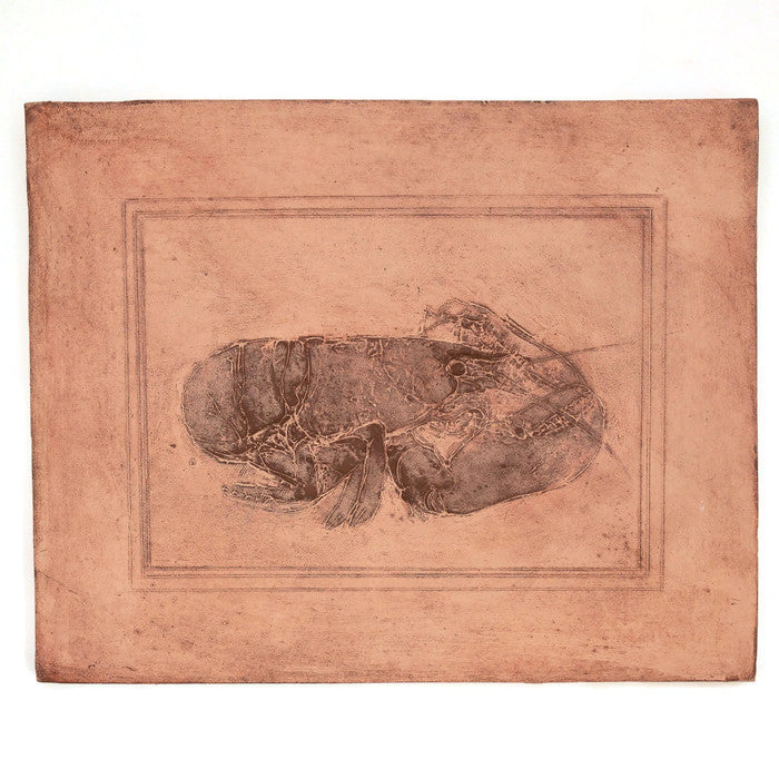 Cement Plaque - Lobster - Ocher - Large