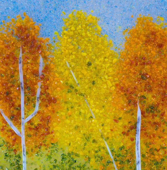Glass Frit Painting - Autumn - 106