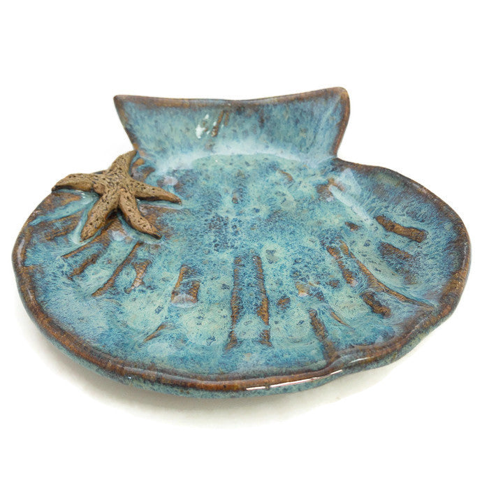 Lion's Paw Dish - Ocean Blue - Starfish