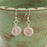 Earrings - Round Wraps - Soft Pink