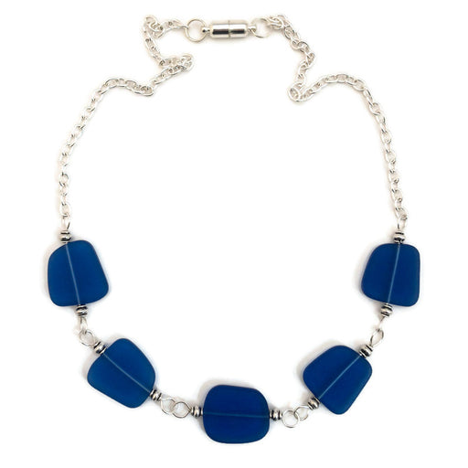 Necklace - Chunky Free From Cluster - Cobalt
