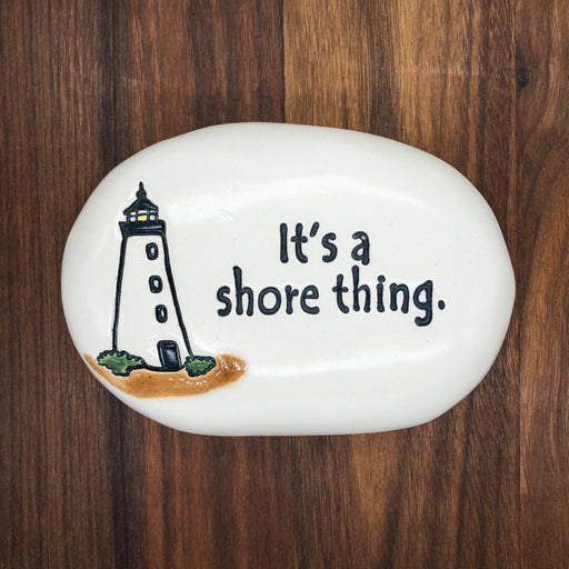 Ceramic Garden Stone - It's a Shore Thing