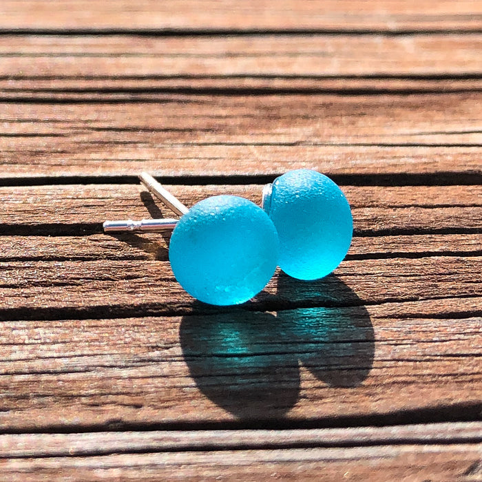 Earrings - Tiny Sea Glass - EDP00 - Caribbean