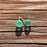 Earrings - Tiny Sea Glass - EDP00 - Green