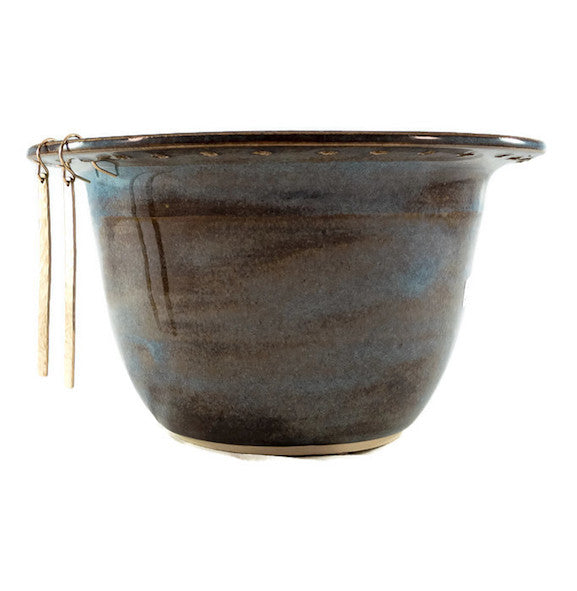 Earring Bowl - Blue Rutile with Glass