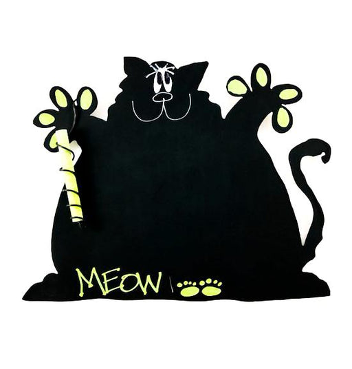 Magnetic Chalkboard - Fat Cat - Green - Meow