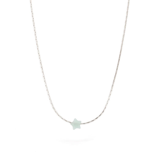 Necklace - Amazonite Little Star on Sterling Silver Chain - SC