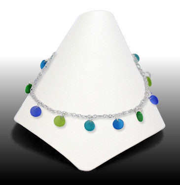 Anklets - Dew Drop - Atlantic Blue & Green - ADW7454