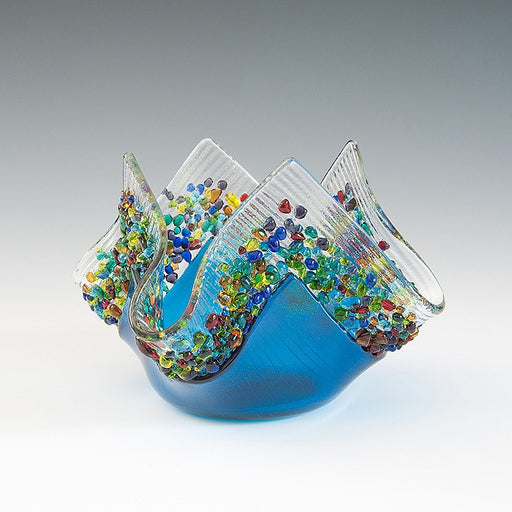 Glass Votive - Aqua