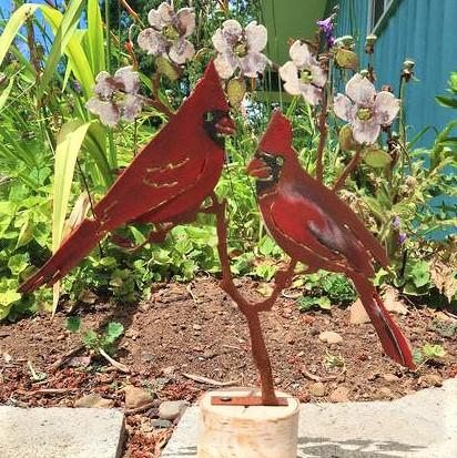 Cardinals on Dogwood