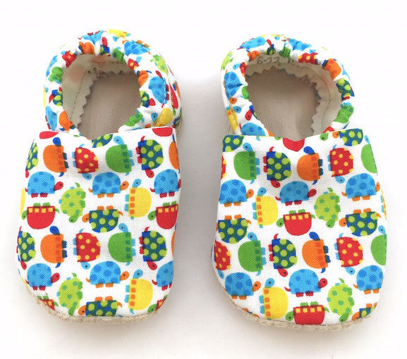 Baby Shoes - 6-12 months - Turtles