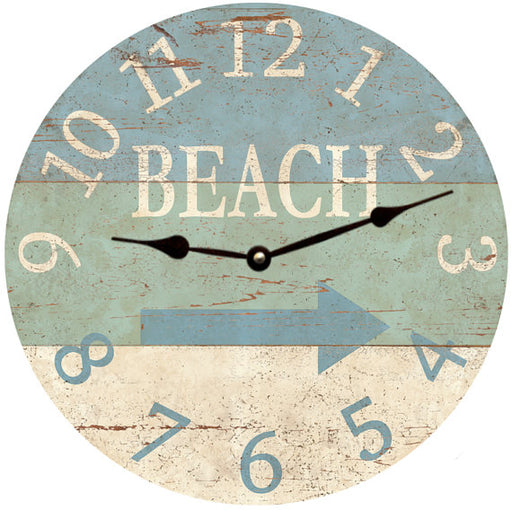 Clock - Wall Hanging - Beach Arrow Clock