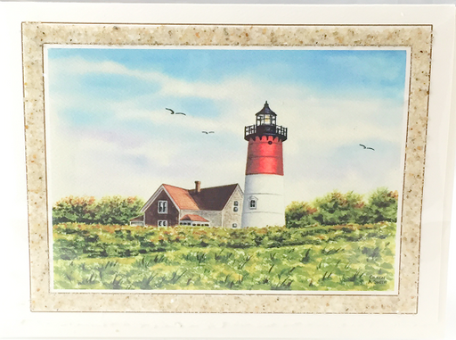 Notecard - Beach Sand - Art - Nauset Light #2
