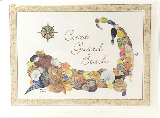Notecard - Beach Sand - Place - Coast Guard