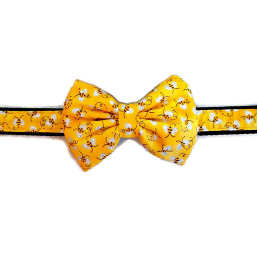 Dog Collar - Bee Bow Tie - Medium
