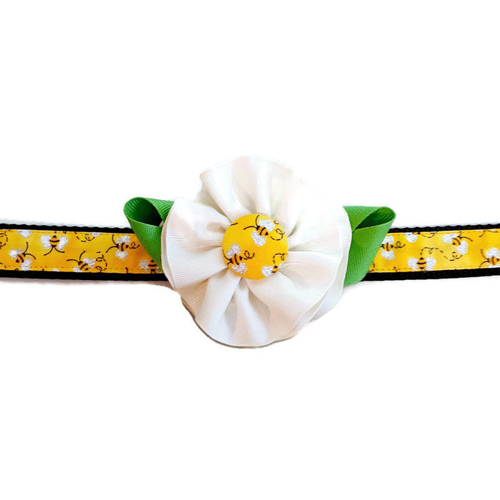 Dog Collar - Bee Flower - Large
