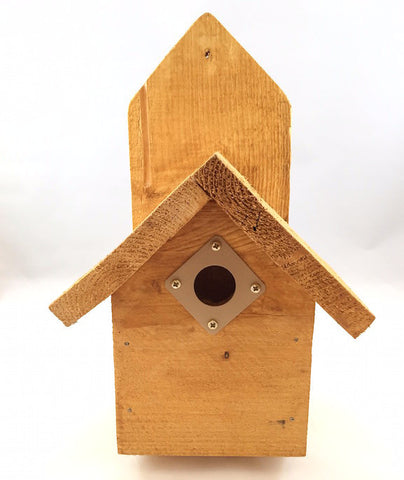 Birdhouse - Mounted Classic - Natural