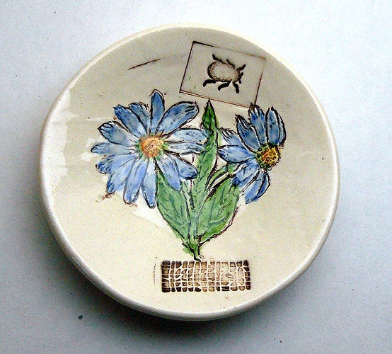 Little Pottery Bowl - Blue Aster