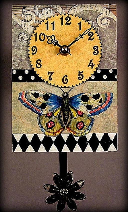 Pendulum Clock - Small - Blue Butterfly - S30