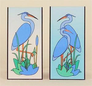 Magnetic Bookmark - Blue Heron in Cattails - MBK202