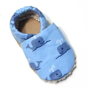 Baby Shoes - 0-6 months - Blue Whale