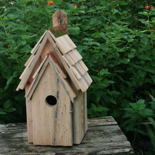 Bird House - Blue Bird Manor - Natural