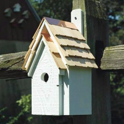 Bird House - Blue Bird Manor - White